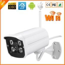 WIFI cámara IP Megapixel 1080 p HD Al Aire Libre de Seguridad Inalámbrica Digital CCTV IP IR Cámara de Infrarrojos Bala P2P Ranura Para Tarjeta SD Kamera