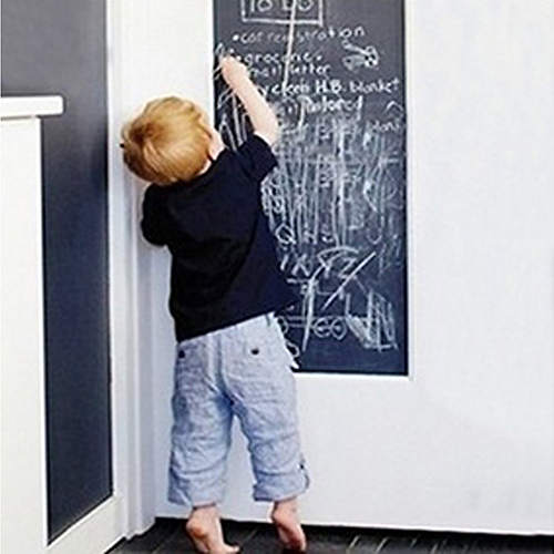 Removable Large Chalkboard Wall Gift For Kids Blackboard + 5 Chalks(China)