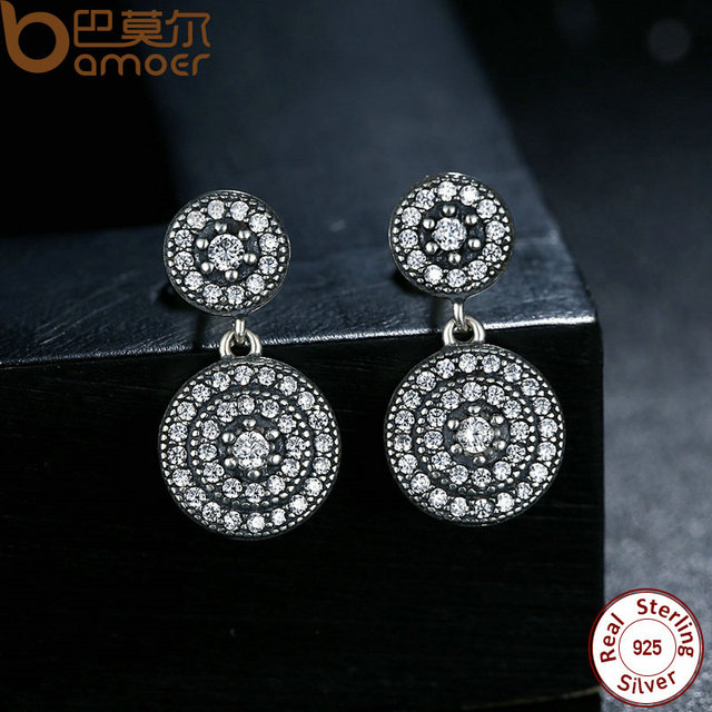 Sterling Silver Radiant Elegance Earrings