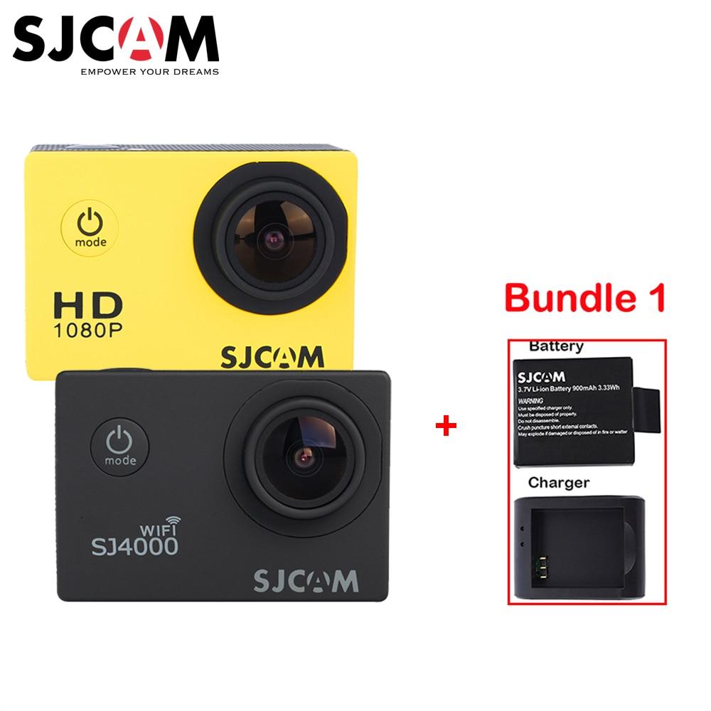 Original SJCAM SJ4000 SJ4000 WIFI 2'' Screen Sports 1080P HD 30M Waterproof Action Sports Camera + a Battery +a Charger
