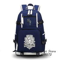 High Quality Harry Potter Gryffindor Hufflepuff Ravenclaw Slytherin Hogwarts School Women Printing Backpack Canvas School Bags