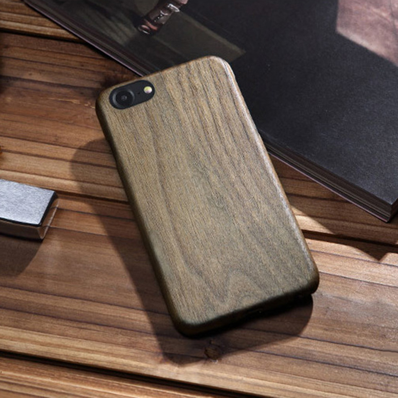 Showkoo Natural Wood Case Coque for iPhone 7 Plus 6 6S Plus Cover with Kevalr Fiber Thinest Wooden Case For 8 7 6S Plus Case