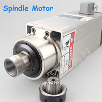 220V 380V Air Cooled Motor Spindle 3 5kw Square High Speed Spindle Motor Engraving Machine Accessories