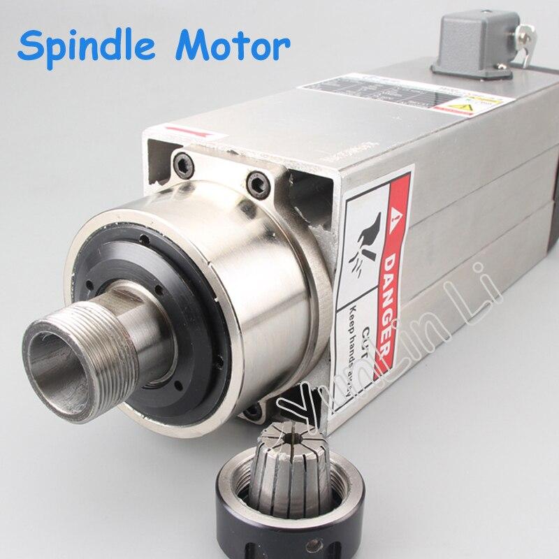 220V/380V Air Cooled Motor Spindle 3.5kw Square High Speed Spindle Motor Engraving Machine Accessories ER25 цены