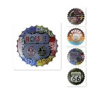 Beer Cap Shape Vintage Home Decorative Metal Sign Plate PUB Home Hotel Decoration Vintage Painting Wall Poster Art 3