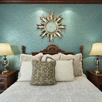 beibehang style blue green wallpaper three dimensional reliefs solid color bedroom living room background wallpaper