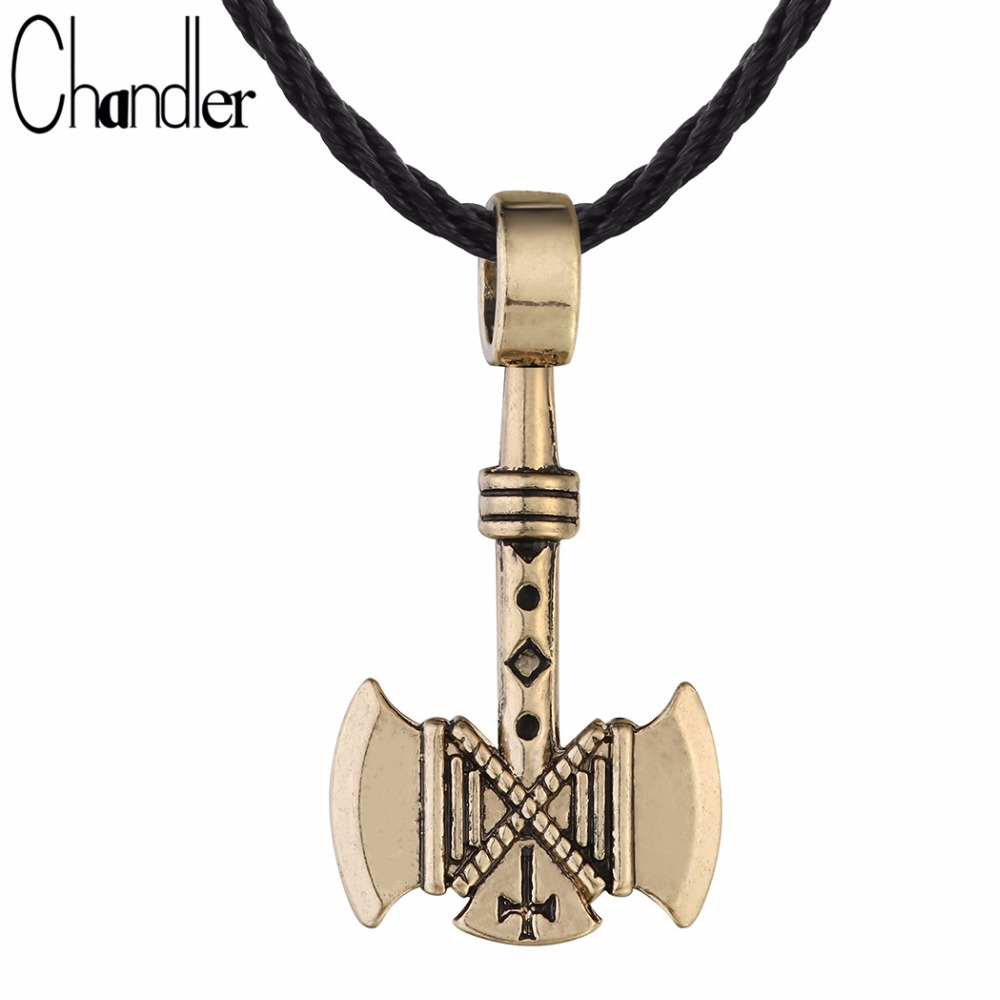 chandler 1pcs valknut viking axe necklace for men axes