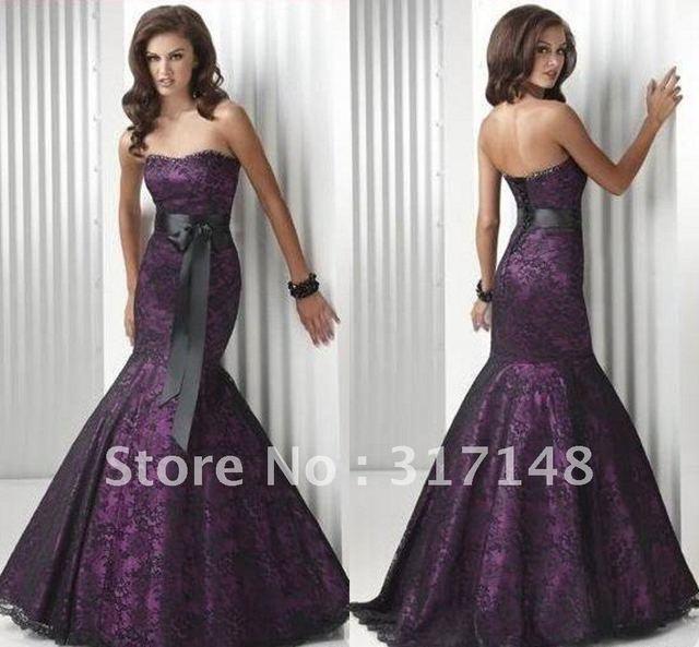 Black mermaid style prom dresses