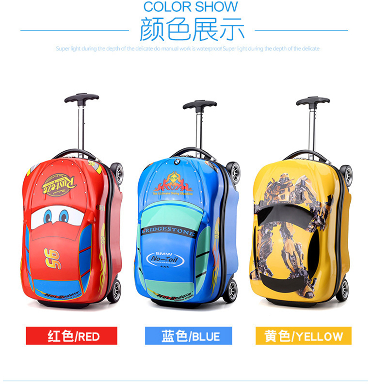 Kids Suitcase Car Travel Luggage Children Travel Trolley Suitcase for boys wheeled suitcase for kids Rolling luggage suitcase vintage suitcase 20 26 pu leather travel suitcase scratch resistant rolling luggage bags suitcase with tsa lock