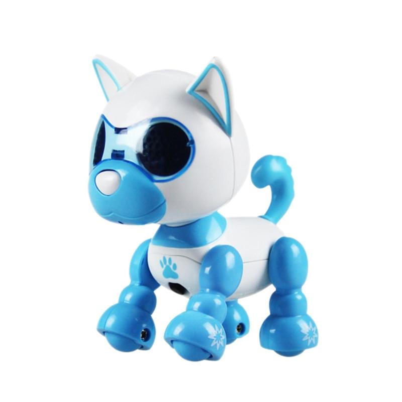 Electronic Pet Dog Robot Dog Educational Puzzle Beautiful Novelty Pet Companion Decor Smart Plastic Press Response