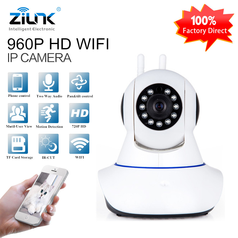 ZILNK 960P HD Wireless Wifi Pan Tilt IP Camera Two way audio Night Vision Home Security CCTV Surveillance Camera Baby Monitor hd 960p wireless ip camera two way intercom pan