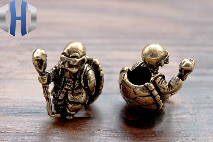 Brass Turtle Fairy Knife Beads Fall Hanging Buckle Phone Fall EDC Umbrella Rope Pendant Zipper Head Paracord Beads in Outdoor Tools from Sports Entertainment