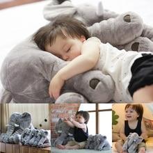 40cm Appease Elephant Soft Pillows Baby Sleeping Pillow Stuffed Elephant Plush Animal Cushion Kids Toy Room Bed Decoration Toys