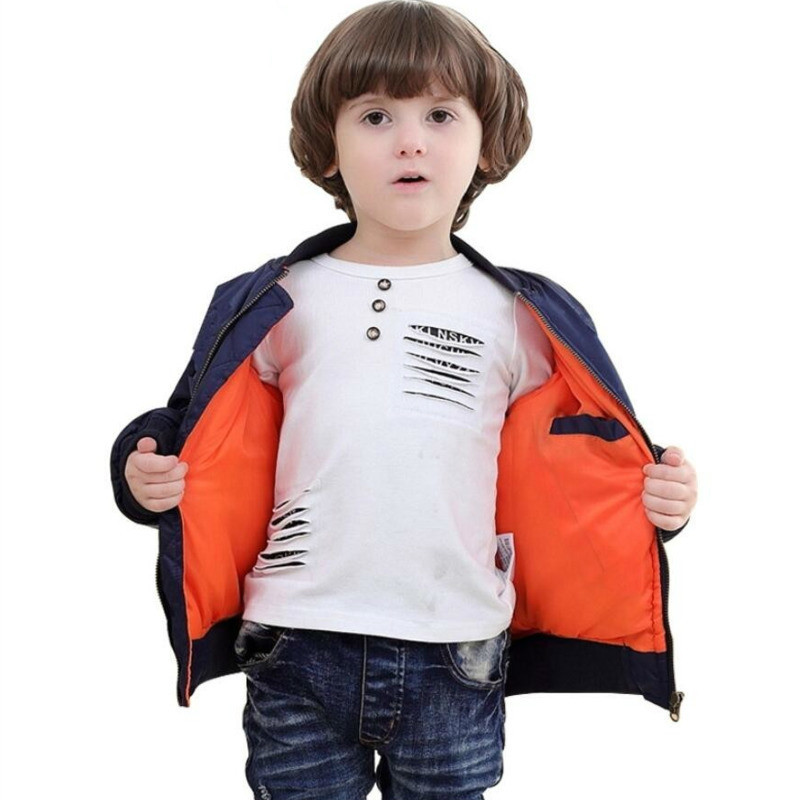 Jacket Padded Flight Puffer-Coat Pilot Bomber Air-Force Winter Child Cotton Ma-1 Baseball