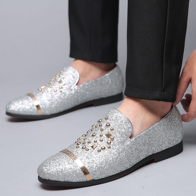 Men's Fashion Glitter Dress Shoe