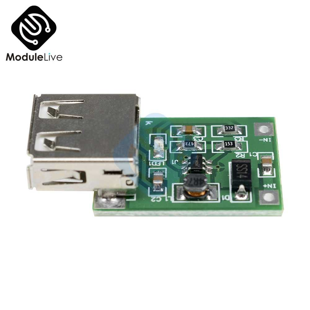 2 adet DC 0.9-5V 600MA USB çıkışı Boost dönüştürücü Mini DC-DC Step Up güç kaynağı modülü lityum pil şarj cihazı kurulu 0.9V-5V