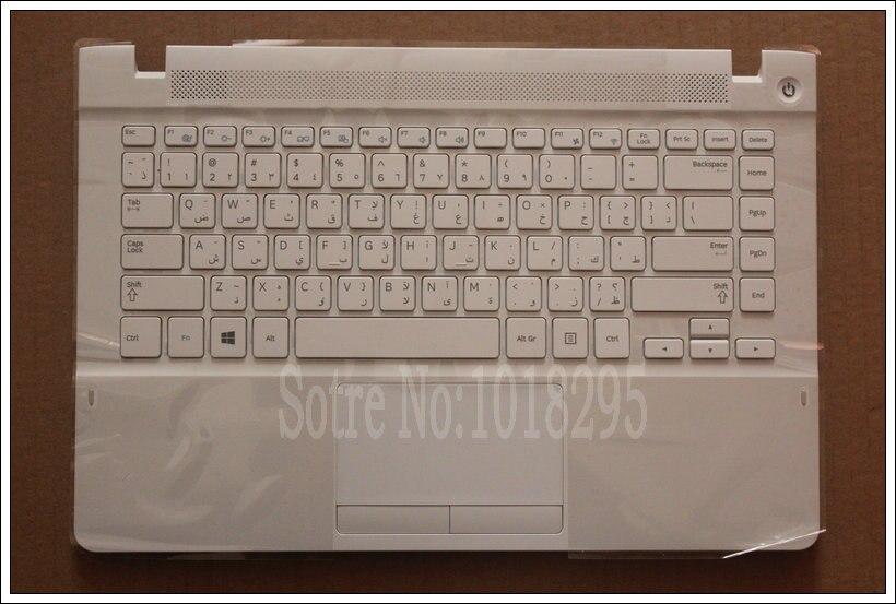 Arabic Keyboard for Samsung NP470R4V NP370R4E NP370R4V NP450R4E NP450R4V NP470R4E white AR laptop palmrest cover
