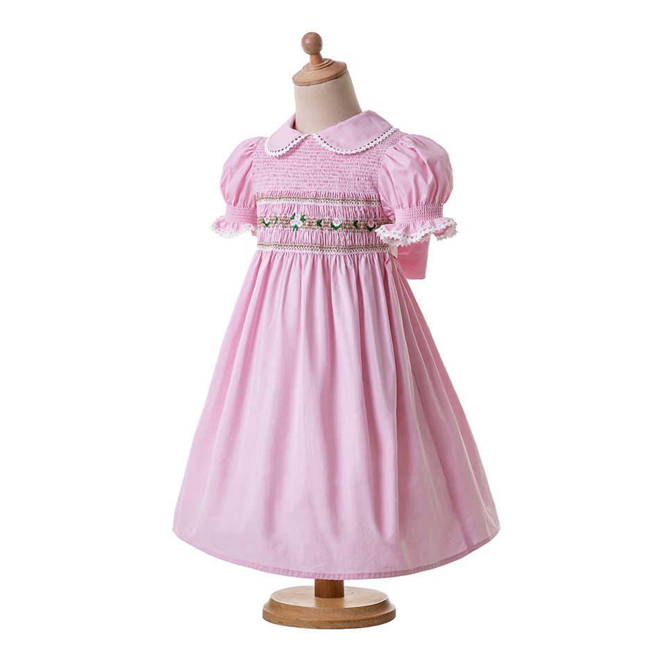 Smocked Christmas Dress.Pettigirl Smocked Christmas Dresses For Toddlers Doll Collar Smocked Bubble Baby Smock Pink Party Girls Costumes G Dmgd0010 A185