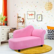 Pink Princess Style Coral Fleece Armrest Chair Kids Sofa Chair Comfortable Baby Furniture HW54195(China)