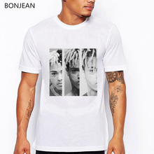 xxxtentacion Character print T-Shirt men Summer High Quality tee shirt homme casual white O-Neck tshirt male harajuku top tees