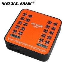VOXLINK 40 Ports Station De Recharge 180 W 5 V USB Chargeur Avec LED affichage Universel Pour iPhone 7 6 6 s Plus Mobile Téléphone appareils