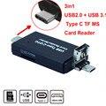 Лучшая цена USB 3.1 Type-C/USB 2.0/Micro USB/OTG TF SD MS Кард-Ридер для Macbook 12 дюймов