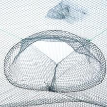 Hot Sale 74*74cm Folding Fishing Net Fish Shrimp Minnow Crab Baits Cast Mesh Trap rede de pesca