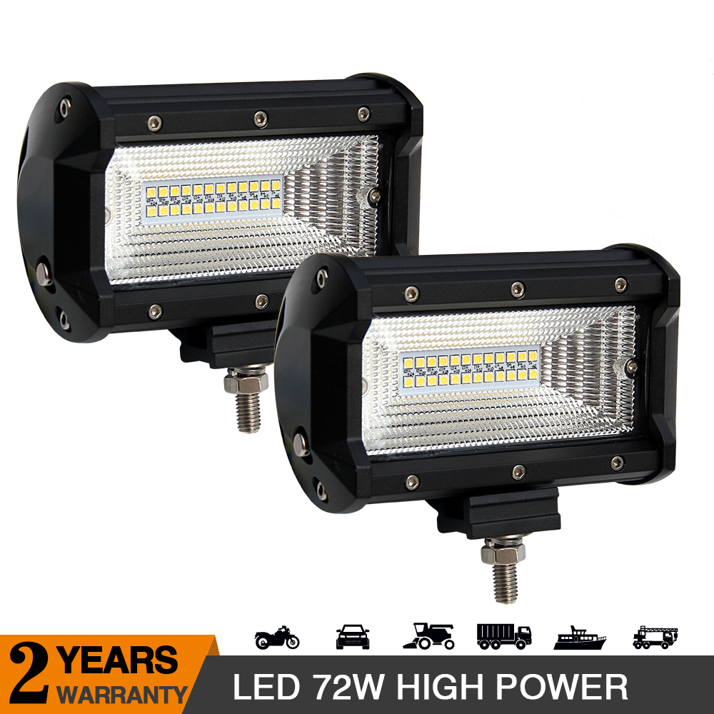 CO LIGHT 72W 5inch 2 Row Flood Beam for UAZ Lada External Lights Offroad Working Driving