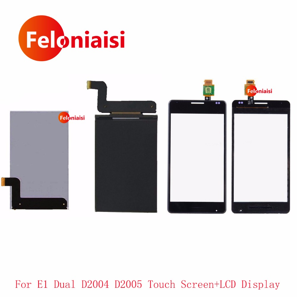 4.0'' For Sony Xperia E1 D2004 D2005 D2104 D2105 LCD Display With Touch Screen Digitizer Sensor Outer Glass Lens Panel