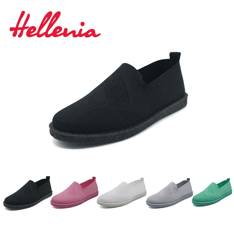 Hellenia New Fashion Women Casual Shoes Slip On Summer Woven Loafers Women's Flats Breathable Comfort Ladies Leisure shoe new hot 2018 fashion brand women cartoon loafers flats shoes woman casual slip on platform shoes ladies comfort shoes size 35 40