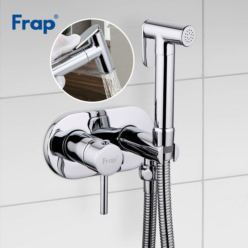 FRAP Bidets laiton bidet toilette eau froide et chaude mélangeur main pulvérisateur chrome salle de bains bidet robinet douche mousseline douche