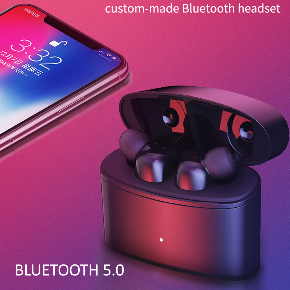 T6 <font><b>TWS</b></font> Bluetooth 5.0 Wireless Earphones Stereo Wireless IPX5 Waterproof Earbuds Headsets w/Chargeing Bin For Xiaomi Huawei image