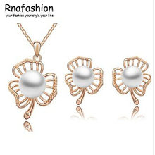 Set of accessories wholesale fashion suits Popular fashion contracted trilobites 2 pearl set pieces 152(China)