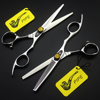 6inch PIPE Pet Straight Thinning Scissor Hair Cut Salon Hairdressing Style Groomer Supplier Professional Tool