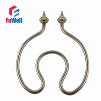 304 Stainless Steel Horseshoe Shaped Water Heating Element 220V 2 5KW 210mm Circle Diameter Electric Tube