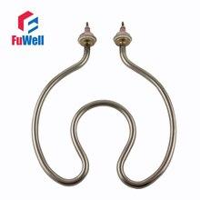 Aquecedor elétrico do tubo do elemento de aquecimento da água do aço inoxidável 304/cobre para a cubeta aberta