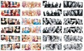 156 Diseño de 12 hojas/Lot Belleza Sexy Marilyn Monroe Héroe de Dibujos Animados de Transferencia de Agua Etiquetas Engomadas Del Clavo de DIY Nail Wraps Tatuajes decoración