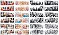 156 Projeto 12 folhas/Lote Beleza Sexy Marilyn Monroe Herói Dos Desenhos Animados Decalques de Transferência de Água Nail Stickers DIY Nail Wraps decoração