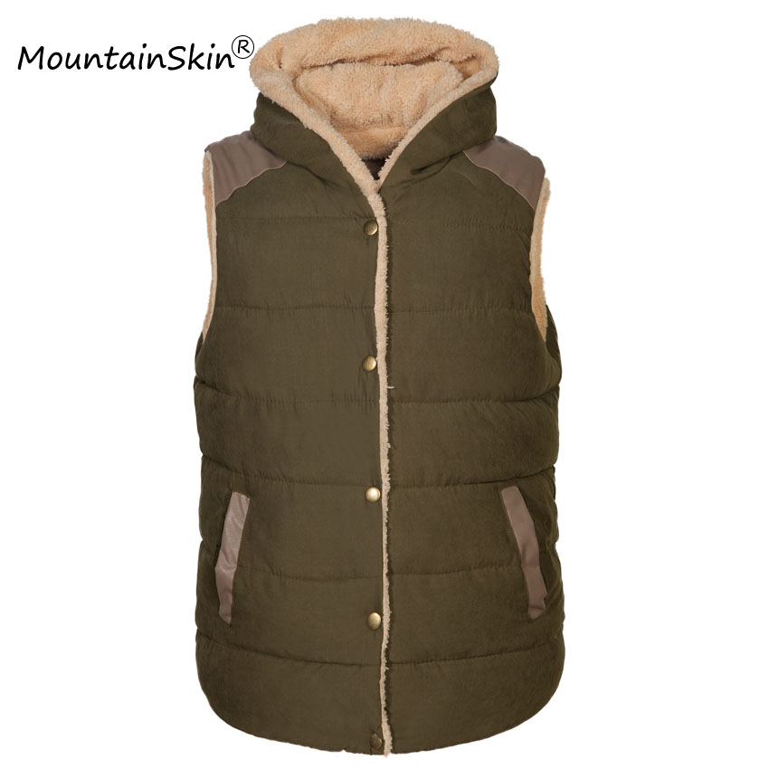 2017 New Winter Men s Hooded Vests Men Casual Thermal Sleeveless Jackets Male Fashion Warm Thick