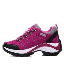 2016 Для женщин Mountain Обувь черный дамы открытый Обувь зима Кроссовки Для женщин увеличивающие рост Обувь для прогулок женские Охота Ботинки