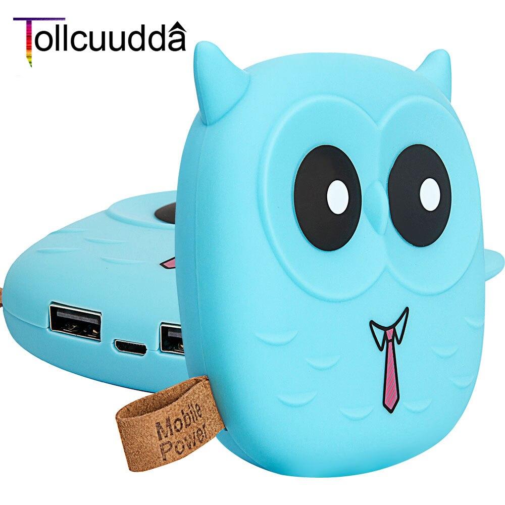 Tollcuuudda 5000 mah power bank cargador portátil de dibujos animados búho power