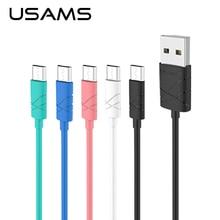 USAMS Кабель Micro Usb 1 м 2А Быстрая Зарядка Мобильного Телефона Android кабель USB Зарядное Дата Кабель Синхронизации Провода для Samsung HTC LG