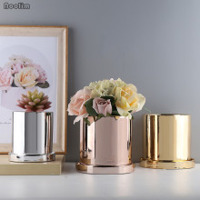 Минималистичные нордические суккуленты Орхидеи цветочные горшки керамический цветочный горшок серебряный золотой цветочный горшок цветочный контейнер настольные украшения