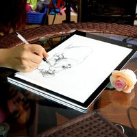 Newest USB Powered Ultra Thin A4 LED Eyesight Protected Touch Dimmable Animation Tracing Light Box Tablet