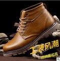 Классическая мода повседневная кожа мужчины зимние сапоги Мартин Англии высокий верх оснастки мужчины зимняя обувь