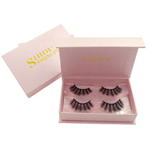 SHIDISHANGPIN  2 pairs thick eyelashes natural long mink lashes hand made 3D false makeup 1 box