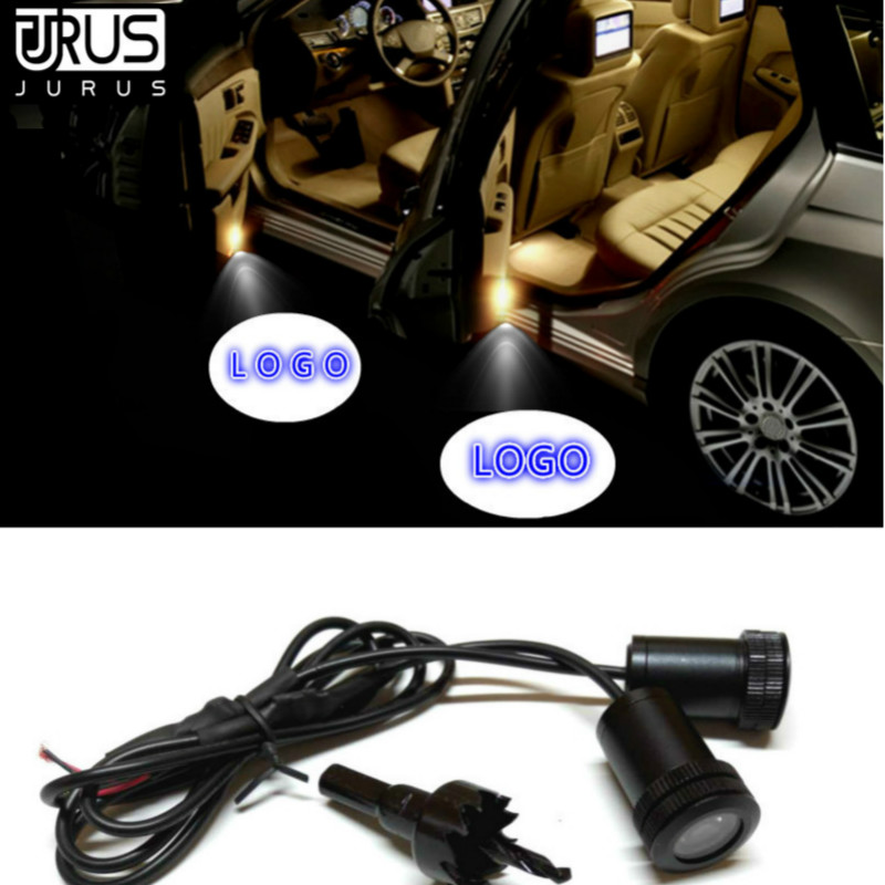 A Pair LED Car Door Welcome Light courtesy led car laser projector Logo Ghost Shadow Case For Scania Styling