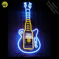 Neon Borden voor Corona Gitaar Neon lamp Teken Beer Bar Pub Neon Light Sign Store Display Lampen Glas met Clear board Dropshipping