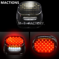 Smoke LED Tail Brake Light Low Profile For Harley Dyna Electra Glide Street Glide Fat Boy Road King XL 833 1200