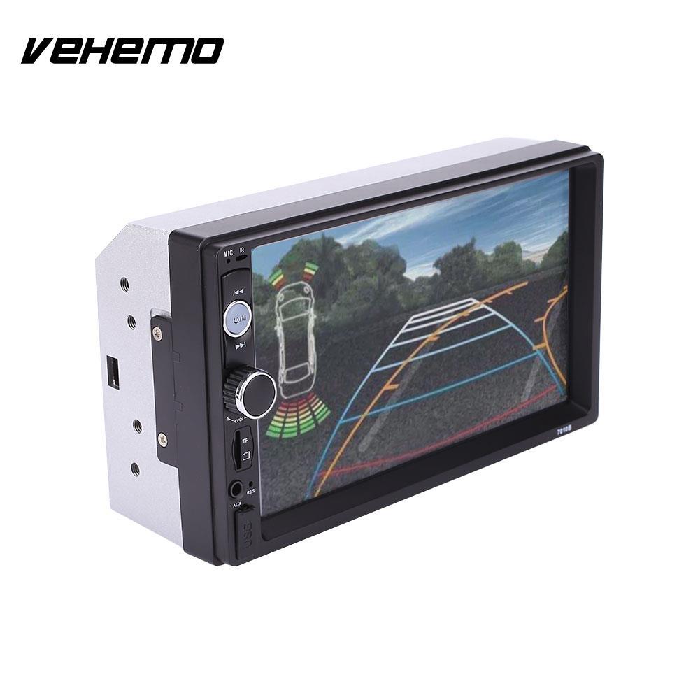 VEHEMO 7 Inches 2Din Car Bluetooth Touch Screen Stereo FM Radio MP5 AV Player 7010B vehemo new 7 inch car vehicle gps fm radio bluetooth no dvd with north america map
